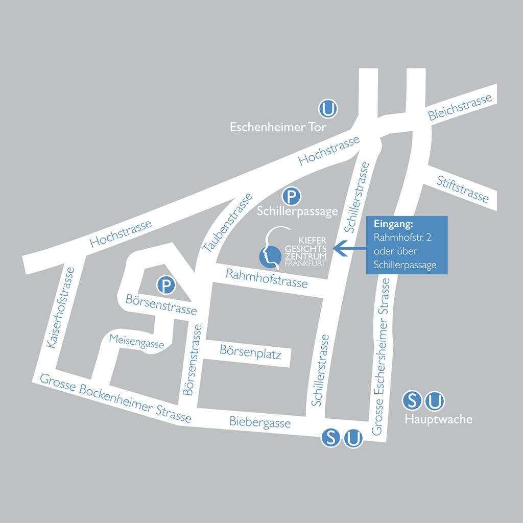 Kiefer-Gesichtszentrum Frankfurt + Anfahrt